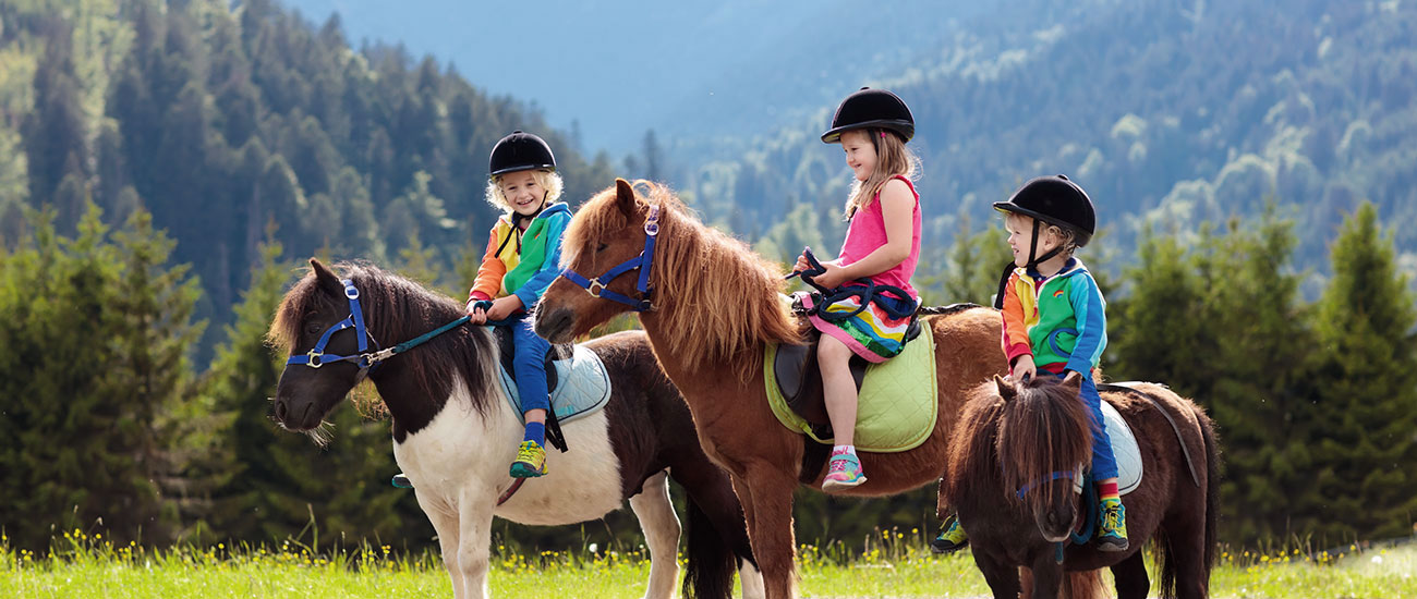 Ponyreiten - Sommerurlaub in Filzmoos